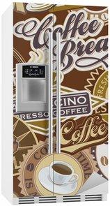 Autocolante para Frigorífico Coffee labels seamless pattern