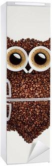 Autocolante para Frigorífico Coffee owl.