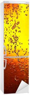 Autocolante para Frigorífico Glass of beer with bubbles