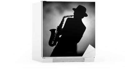 Autocolante para Frigorífico jazz sax