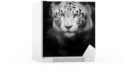 Autocolante para Frigorífico White Tiger