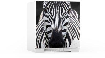 Autocolante para Frigorífico Zebra head
