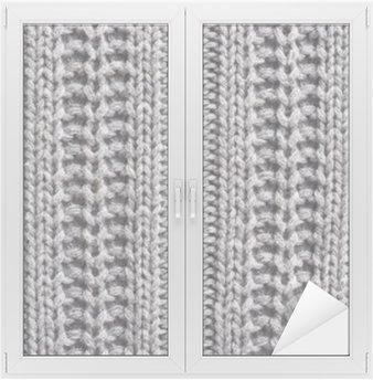 Autocolante para Janelas e Vidros Lã de tricô acima da textura