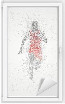Autocolante para Janelas e Vidros Projeto corredor atleta