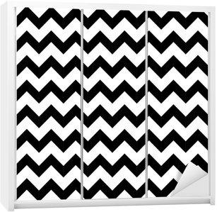Autocolante para Roupeiro Abstract geometric zigzag seamless pattern. vector