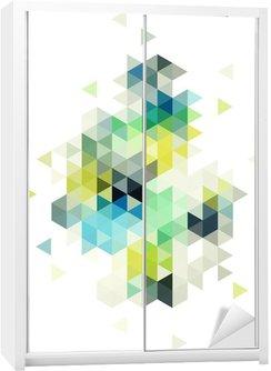 Autocolante para Roupeiro abstract low poly background, vector