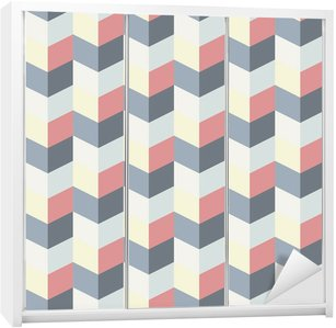 Autocolante para Roupeiro abstract retro geometric pattern