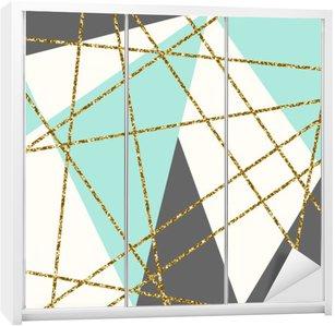 Autocolante para Roupeiro Composição geométrica abstrata.