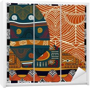Autocolante para Roupeiro Ilustração pattern.Vector emenda colorida indiana