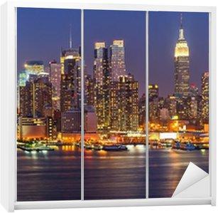 Autocolante para Roupeiro Manhattan at night