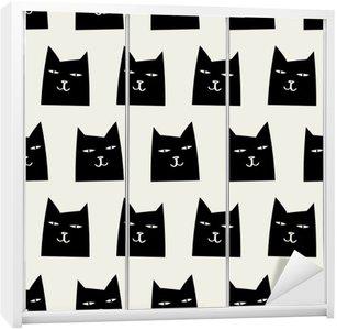 Autocolante para Roupeiro Padrão de gato perfeita