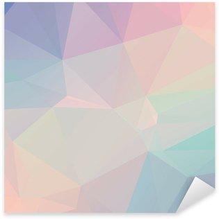 Autocolante Pixerstick Pastel Polygon Geometric
