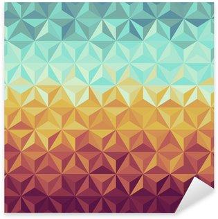 Autocolante Pixerstick Retro hipsters geometric pattern.