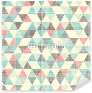 Autocolante Pixerstick seamless geometric pattern