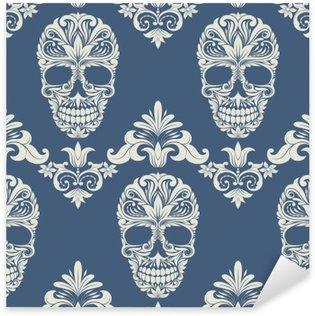 Autocolante Pixerstick Skull Swirl Decorative Pattern