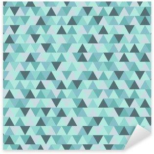 Autocolante Pixerstick Triângulo padrão de Natal abstrata, azul cinza inverno geométrica fundo do feriado