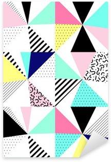 Autocolante Pixerstick Vector seamless padrão geométrico. Memphis Style. Abstratos dos anos 80.