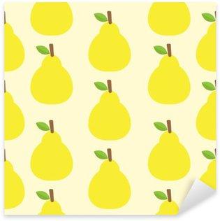 Autocolante Pixerstick Vetor padrão de fundo de frutas bonito olhar cor delicioso Round-