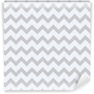 Vinyl Behang Naadloze chevron grijs patroon