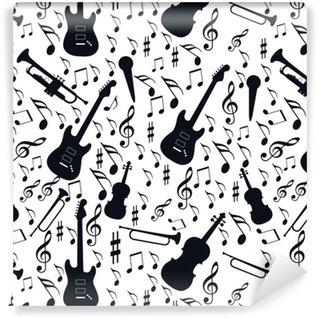 Vinyl Behang Naadloze patroonmuziek