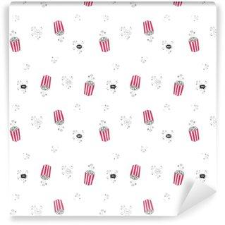 Vinyl Behang Popcorn wolk naadloze vector patroon