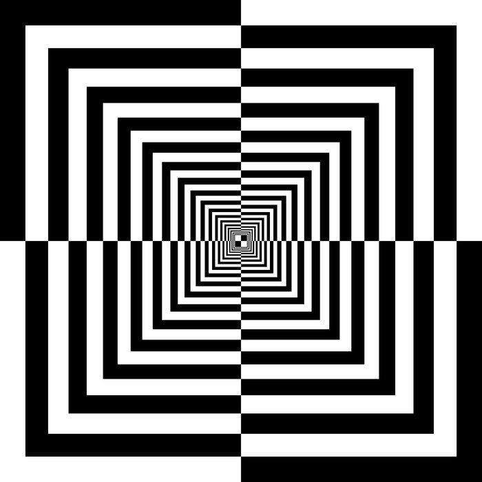 Fototapeta Vinylowa Białe i czarne kwadraty - Tematy