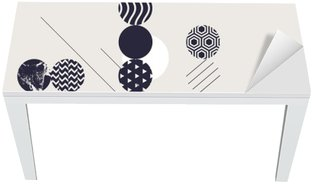 Abstrakt moderne geometrisk baggrund Bord og Skrivbordfiner
