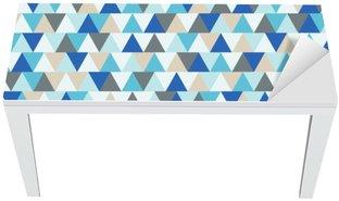Bureau- en Tafelsticker Abstract driehoek vector achtergrond, blauw en grijs geometrische patroon wintervakantie