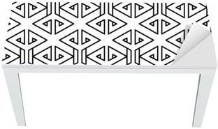 Bureau- en Tafelsticker Abstract geometrische zwart en wit hipster fashion kussen patroon