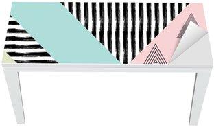 Bureau- en Tafelsticker Abstract hand getekende geometrische patroon