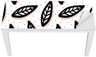 Bureau- en Tafelsticker Abstract naadloos patroon in Scandinavische stijl.