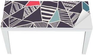 Bureau- en Tafelsticker Abstracte naadloze doodle patroon