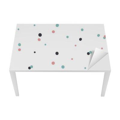 Bureau- en Tafelsticker Abstracte naadloze patroon op witte achtergrond met zwarte en Gol