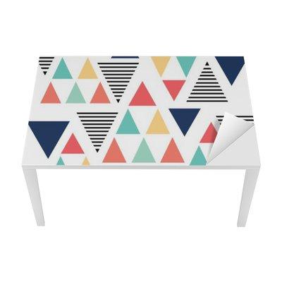 Bureau- en Tafelsticker Driehoekspatroon kleurvariatie