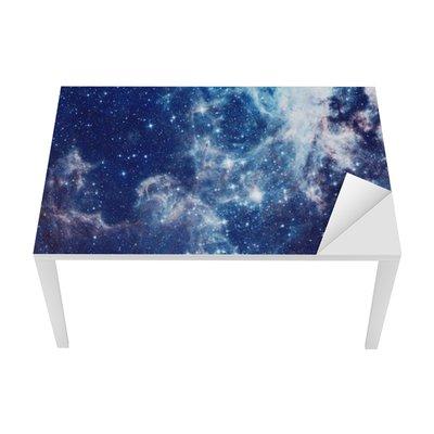 Bureau- en Tafelsticker Melkweg illustratie, ruimte achtergrond met sterren, nevel, kosmos wolken