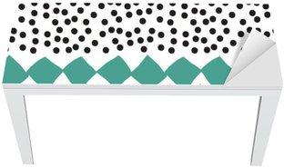 Bureau- en Tafelsticker Naadloos patroon met grafische geometrische elementen