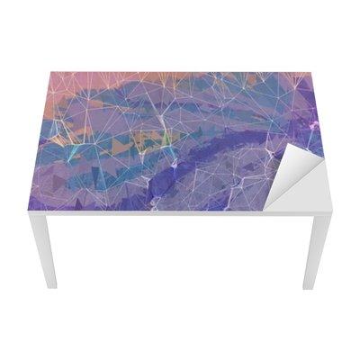 Bureau- en Tafelsticker Roze en paars grunge abstracte achtergrond afbeelding