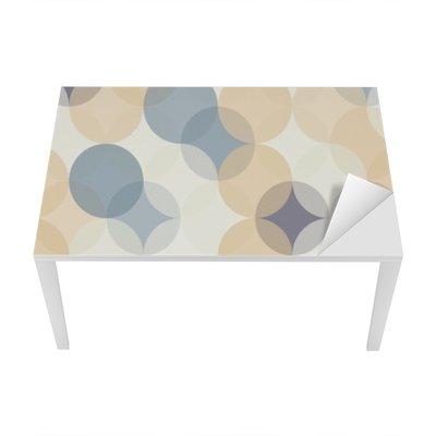 Bureau- en Tafelsticker Vector moderne naadloze kleurrijke meetkunde patroon van cirkels, kleur abstract geometrische achtergrond, behang druk, retro textuur, hipster fashion design, __