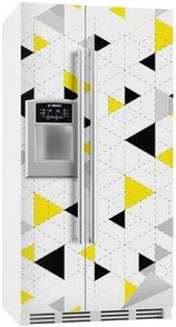 Buzdolabı Çıkartması Geometrik desen arka plan