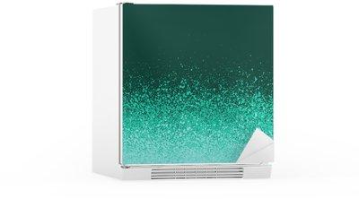Buzdolabı Çıkartması Grafiti sprey boyalı yeşil nane mavi degrade arka plan