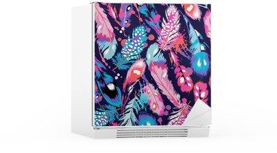 Buzdolabı Çıkartması Güzel tüy vektör seamless background