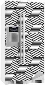 Buzdolabı Çıkartması Küp ile sorunsuz geometrik desen.