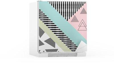 Buzdolabı Çıkartması Özet elle çizilmiş geometrik desen