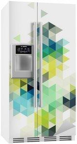Buzdolabı Çıkartması Soyut düşük poli arka plan, vektör