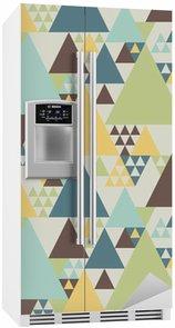 Buzdolabı Çıkartması Soyut geometrik desen