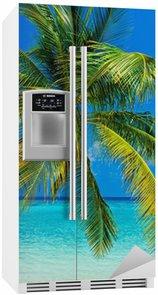 Buzdolabı Çıkartması Tropikal plaj