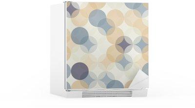 Buzdolabı Çıkartması Vektör Modern kesintisiz renkli geometri desen çevreler, renk soyut geometrik arka plan, duvar kağıdı baskı, retro doku, yenilikçi moda tasarımı, __
