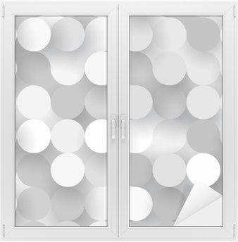 Cam ve Pencere Çıkartması Dikişsiz düz çevreler