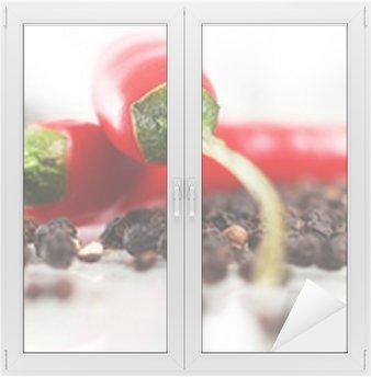 Cam ve Pencere Çıkartması Kırmızı acı biber