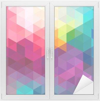 Cam ve Pencere Çıkartması Özet renkli seamless pattern arka plan